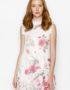 DMND013 Đầm voan hoa suông cổ bèo cao