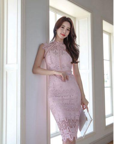 D1867 : Đầm ren ôm Hàn Quốc sang trọng thanh lịch
