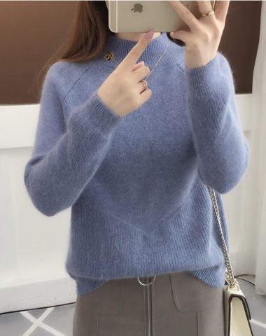 AL1814 : Áo len lông cổ cao 3 phân phối mảnh chéo