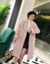 K1855 : Áo khoác dạ thân dài 3 2 túi giả cổ vest Hàn Quốc
