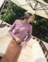 AL1831 : Áo len dệt kim đính hạt ngọc trai trước ngực
