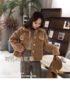 K1845 : Áo khoác lông cừu cao cấp cực ấm cổ bẻ cài nút