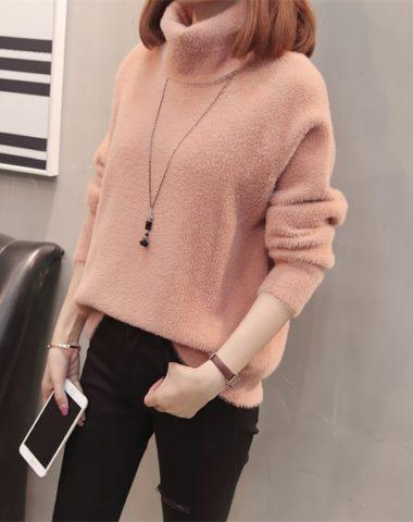 AL1842 : Áo len lông Hàn Quốc cổ lọ gập ấm áp