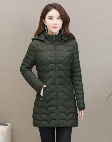 K18103 : Áo khoác phao lông vũ 3 lớp cực ấm có mũ sau