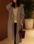 K1896 : Áo khoác len thân dài 2 túi to có mũ sau