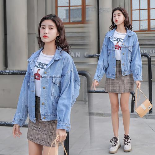 D1910 : Áo khoác Jean Hàn Quốc đơn giản mùa thu mới 2019-2020