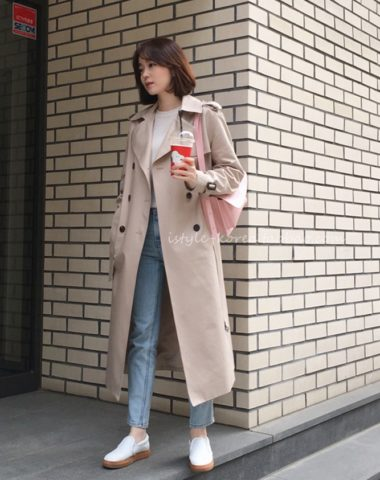 K1931 : Áo khoác kaki thân dài cổ vest HQ mẫu mới 2020