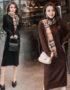 DL1917 : Đầm len suông dệt kim cổ lọ gập (ko kèm khăn)