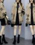 K1987 : Áo khoác khăn choàng len dệt kim hoa văn mới 2020