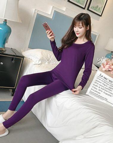 CL1911 : Set bộ quần áo giữ nhiệt lót lông mịn ấm áp