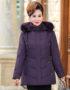 K19104 : Áo khoác phao lông vũ trung niên cao cấp mũ lông thú