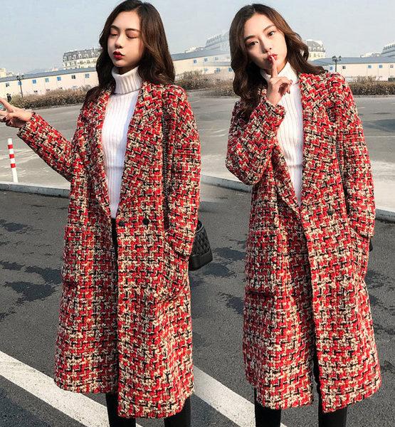 K1993 : Áo khoác dạ len thân dài dày HQ cổ 2 ve 2 túi