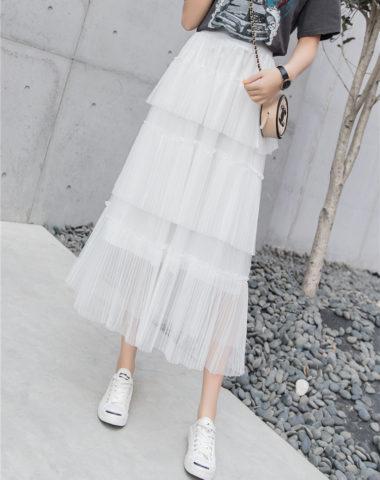 CV203 : Váy ren lưới bèo tầng dài công chúa có lót