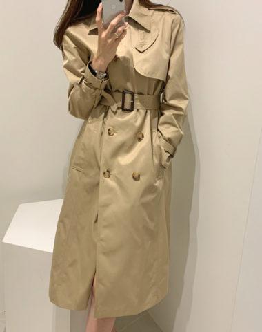 K207 : Áo khoác kaki thân dài cổ vest HQ mẫu mùa thu mới 2020