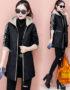 K222 : Áo khoác da trần bông mũ nỉ HQ ấm áp