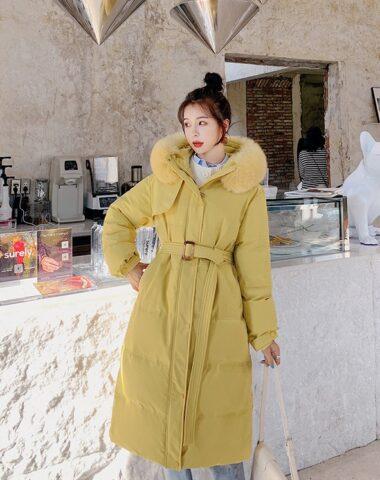 K250 : Áo khoác phao thân dài lót 100% lông vũ nhẹ nhàng ấm áp